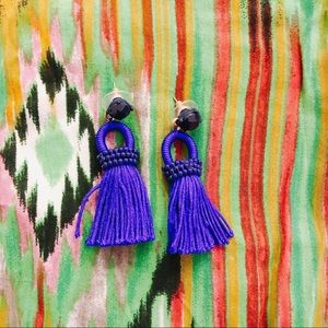 J crew tassel statement earrings